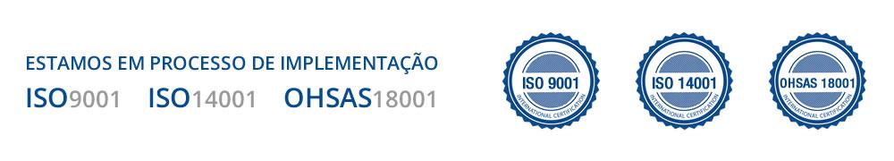 Processo de implementação ISO9001, ISO14001 e OHSAS18001